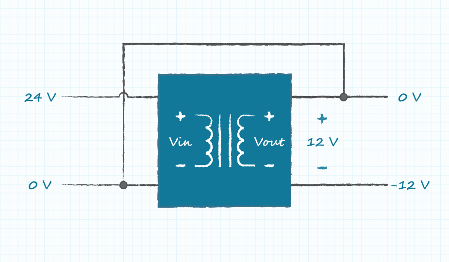 diagram of a circuit with inverting connection